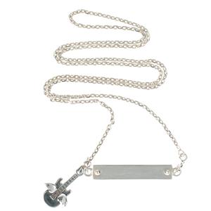 Bracelet Pendentif en argent Rock-Guitare