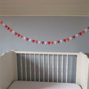 Guirlande de fanions chambre d'enfant Fiesta