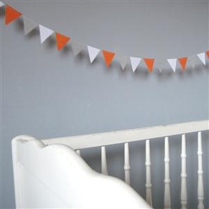 Guirlande de fanions chambre d'enfant Mandarine