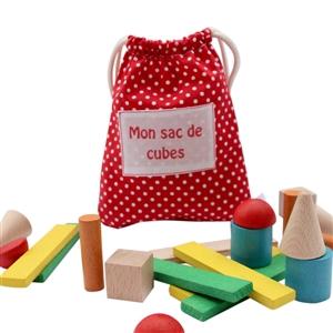Sac de cubes personnalisable pois grenadine