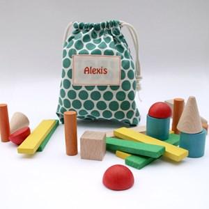 Sac de cubes personnalisable P'tits pois bio
