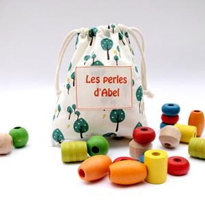 Sac de perles personnalisable sous-bois en coton bio