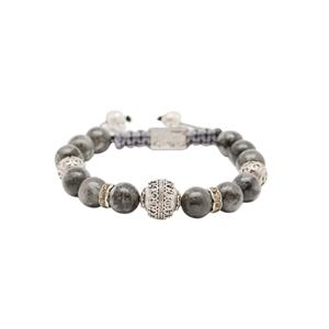 Bracelet Pierre de Lune grise Norv�gienne Silver Grenade