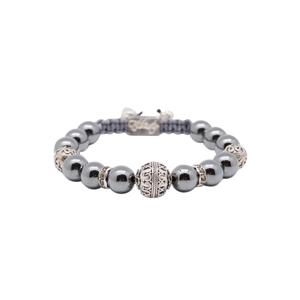Bracelet hematite perles grises Silver Grenade Mirror