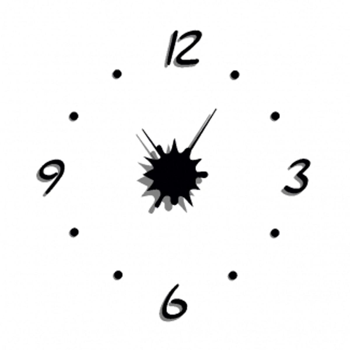 Grande pendule horloge design noire silencieuse diam tre 60cm splash arte - Horloge 60 cm de diametre ...