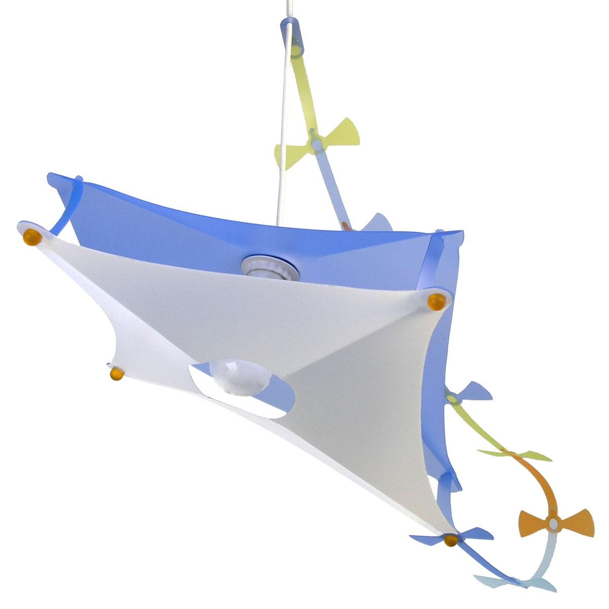 Lampe suspension enfant Cerf-volant Bleu