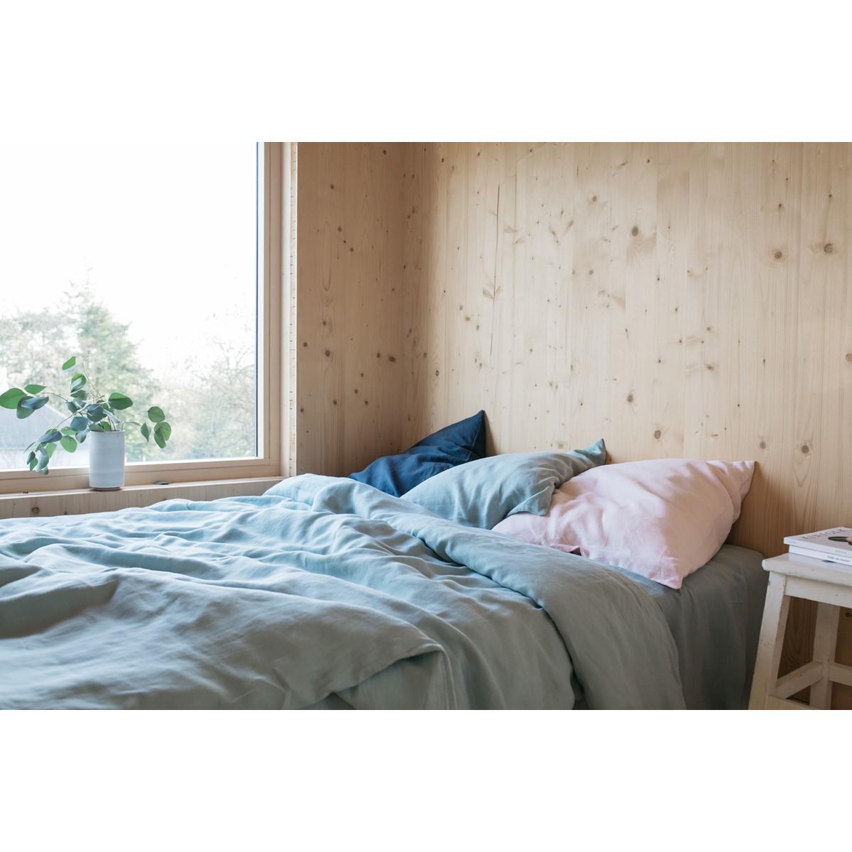 parure de lit lin lav fabriqu e en france lab. Black Bedroom Furniture Sets. Home Design Ideas
