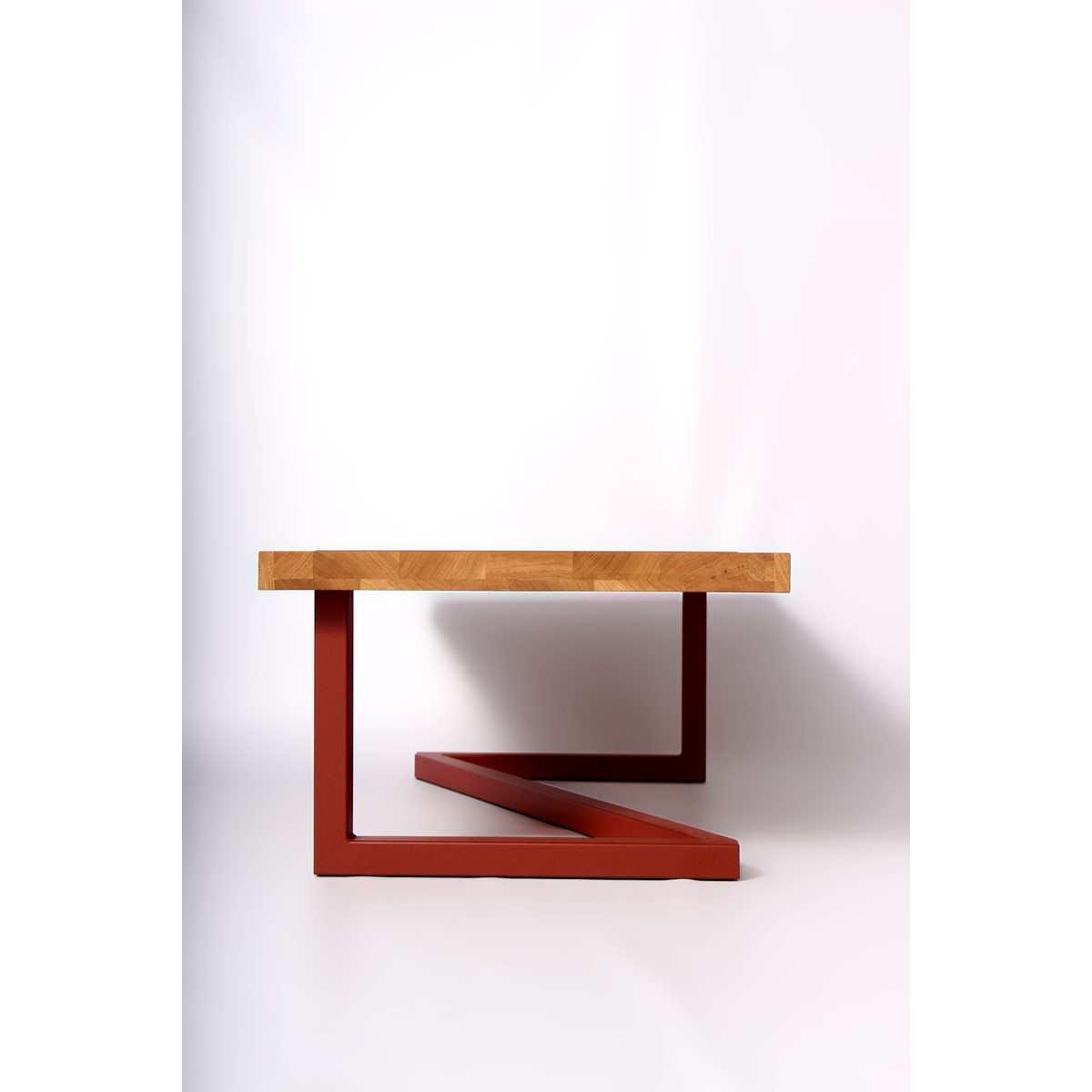 Table basse bois acier design for Table basse bois design
