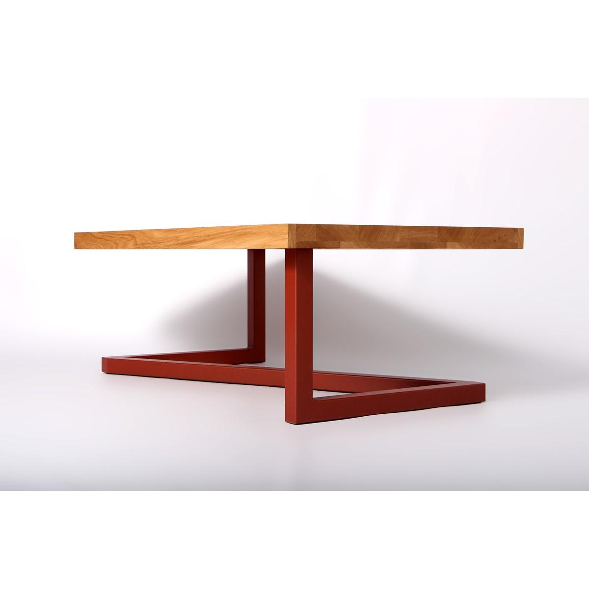 Table basse design bois et acier - Table bois brut design ...