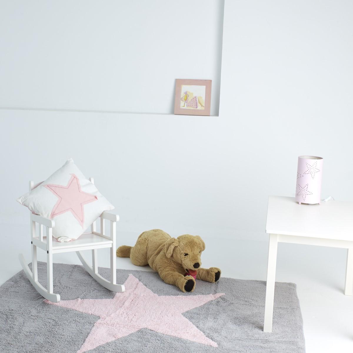 tapis rose gris. Black Bedroom Furniture Sets. Home Design Ideas