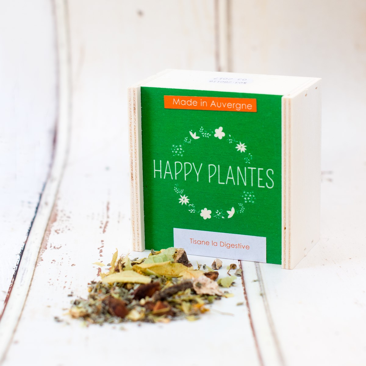 Tisane Digestive BIO Boîte Bois  HAPPY PLANT