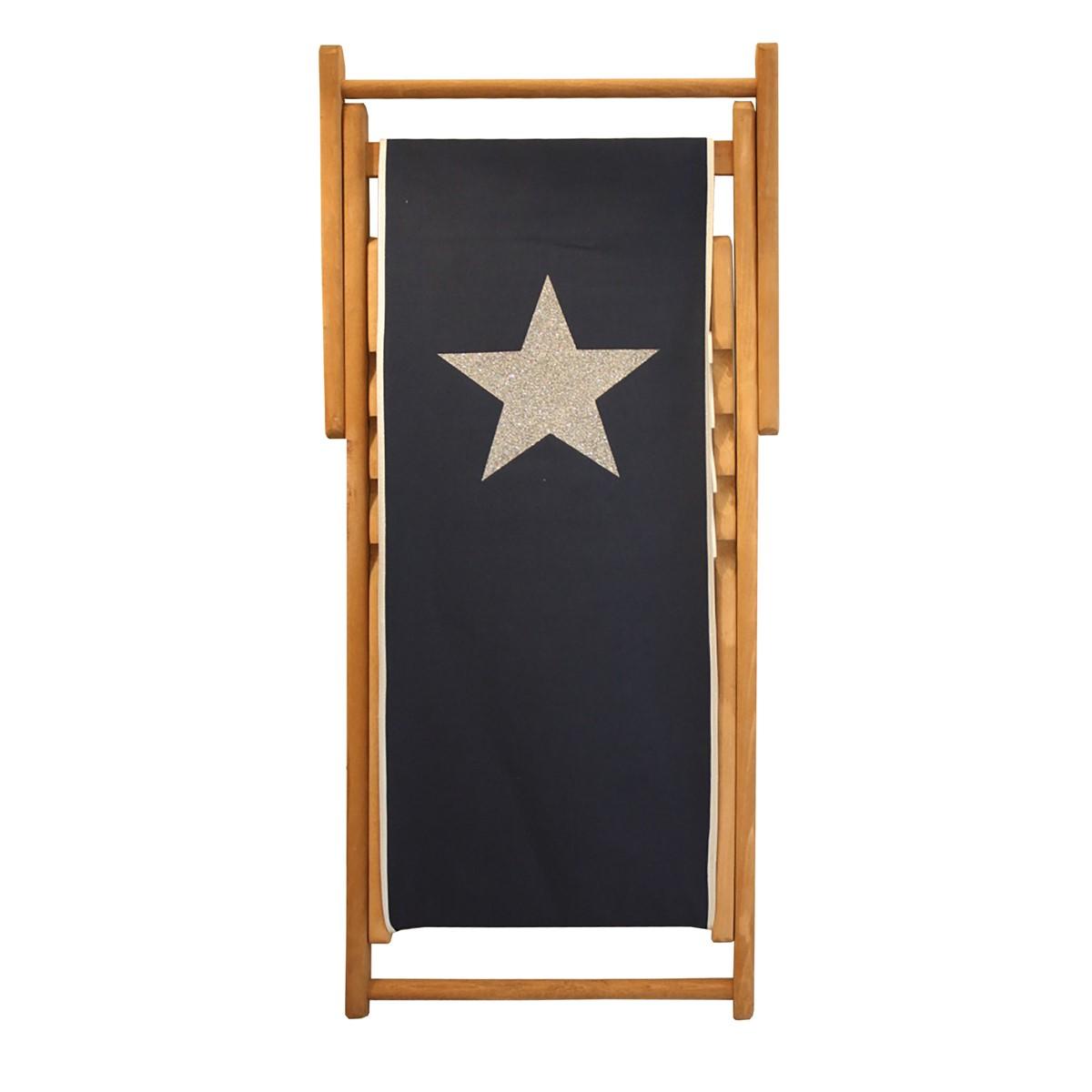 Chaise longue en bois et toile d coration de maison for Chaises longues bois et toile