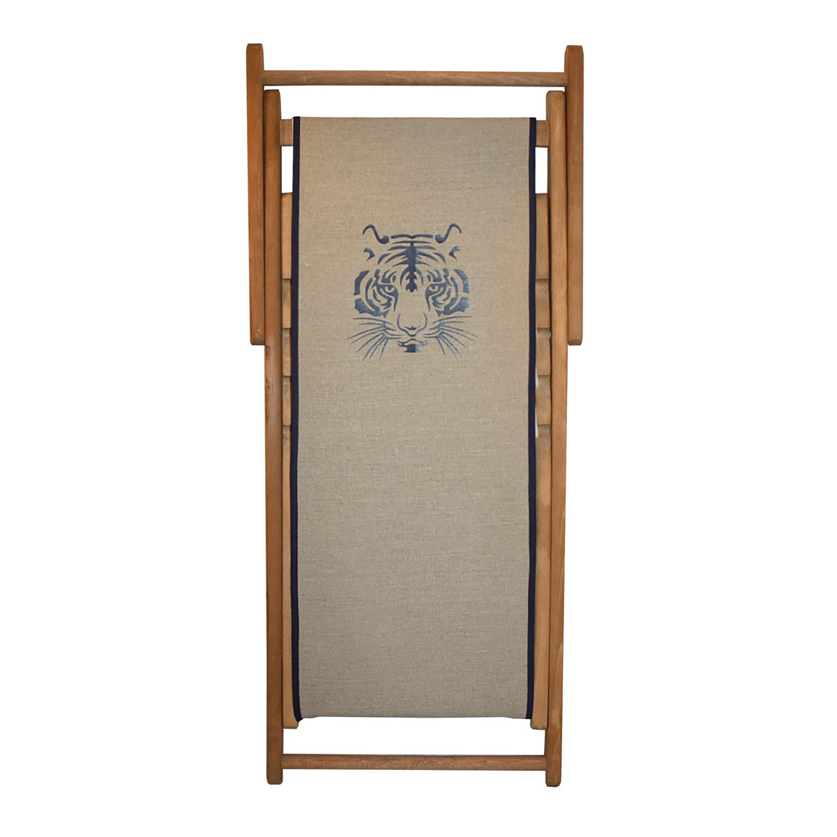 Transat en bois et toile for Chaise longue bois et toile