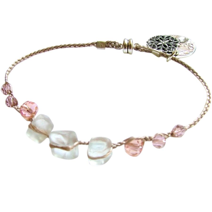 Bracelet perl� Rose
