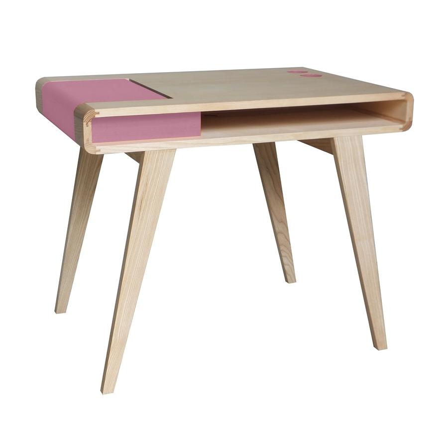 Bureau r tro contemporain en bois kolorea rose atelier - Bureau design contemporain ...