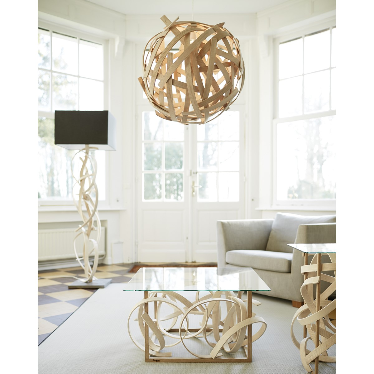 Lustre Design Bois : Lustre design en bois Anouk LIMELO DESIGN