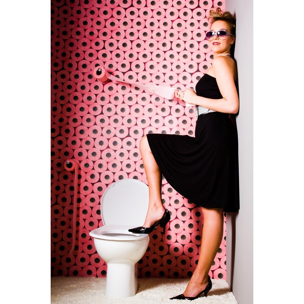 Papier peint rouleau de papier toilette rose - Rouleaux de papier toilette ...