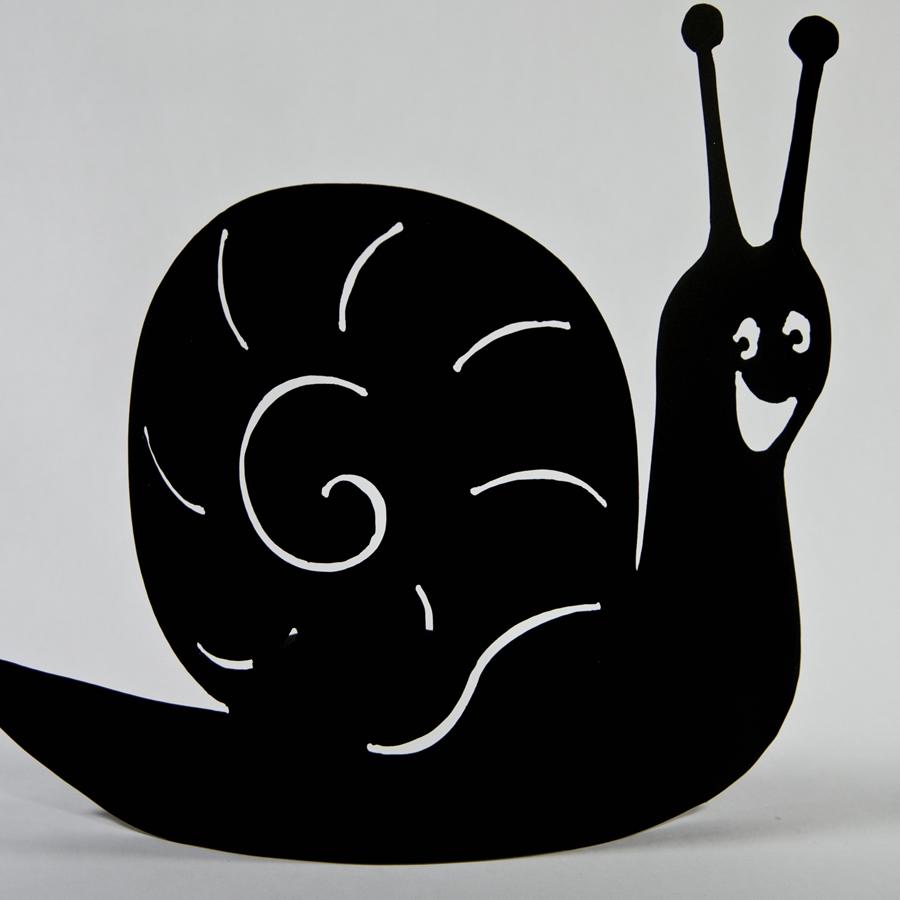 Photophore escargot Hector noir