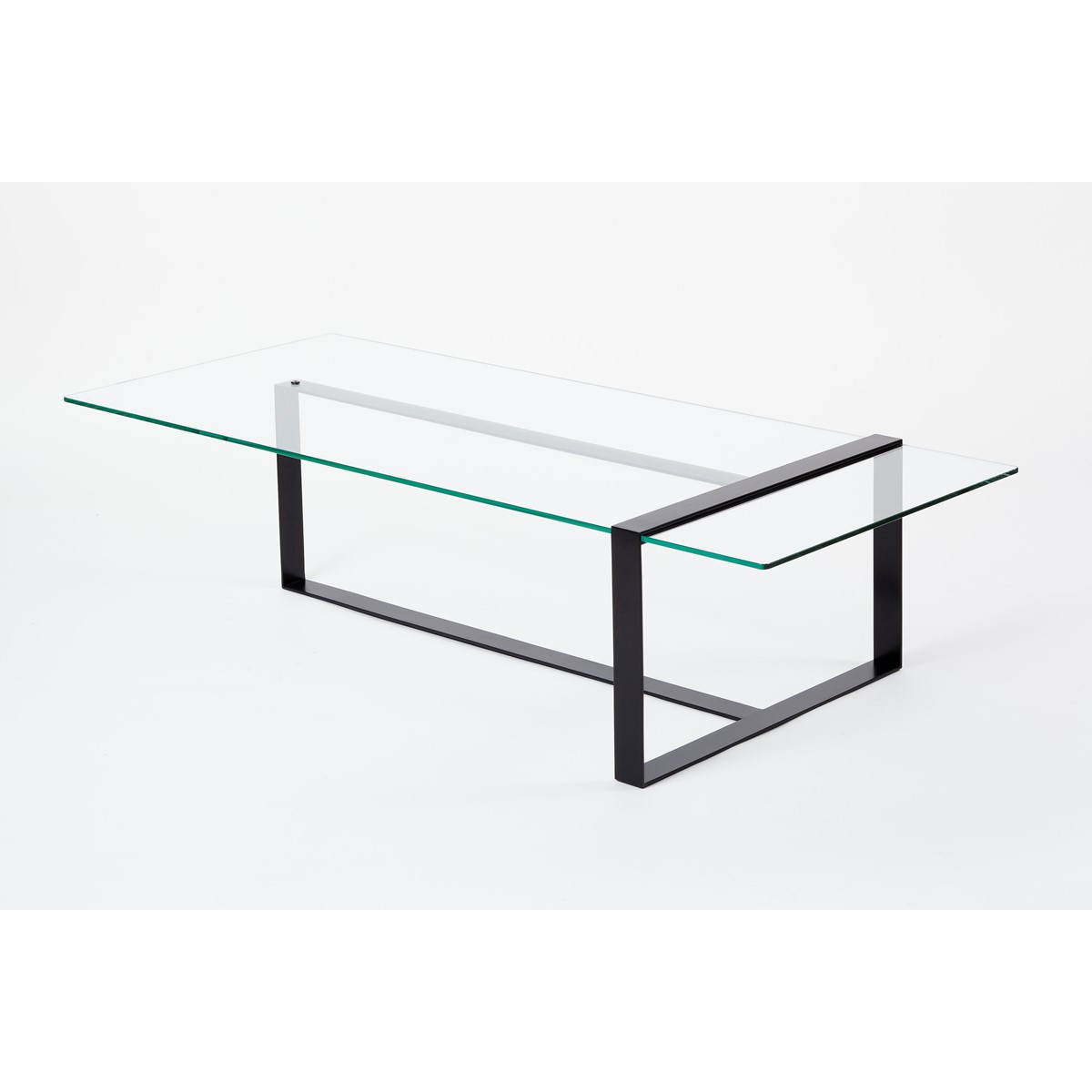 Table basse design acier et verre s verin alex de - Table basse acier design ...