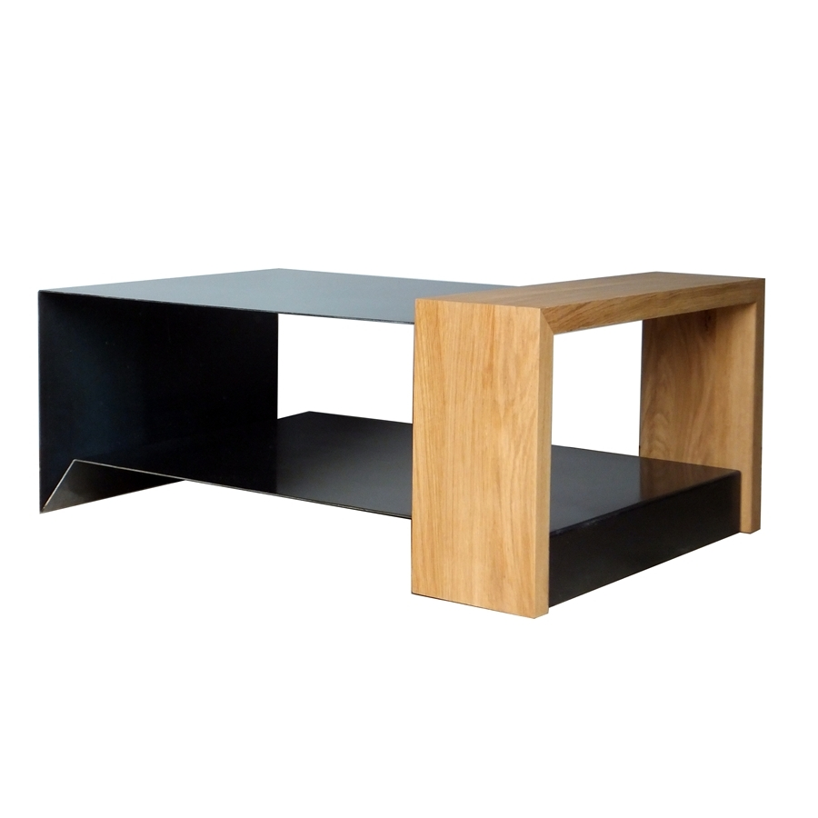 Table basse metal bois - Table basse industrielle bois metal factory ...
