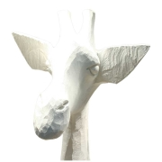 Objet de décoration - Girafe en bois ZERAFA 1m90 -