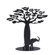Arbre � Bijoux - Baobab-�l�phant - finition noir mat