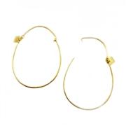 Boucles d'oreilles en argent plaqu� or la poule aux oeufs d'or