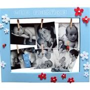 Cadre p�le m�le bleu pour enfant Le bonheur est dans le pr�