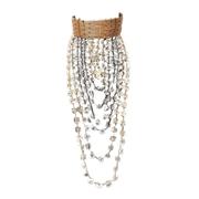 Collier haute couture en tressage de verre translucide POMPADOUR