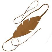 Headband feuille ethnique en cuir Amarok