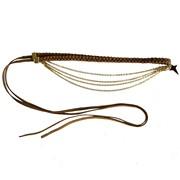 Headband tress� chaine et �toile or fin Arktos