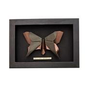 Insecte en origami dans un cadre noir Papillon