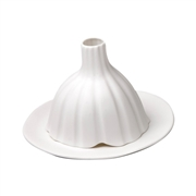 Photophore en porcelaine mate ray�