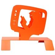 Porte revues m�tal orange TV