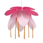 Suspension luminaire fleur Fuchsia Rose