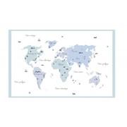 Tableau � la d�couverte du monde bleu