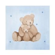 Tableau bleu Les ours calins