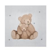 Tableau gris Les ours calins