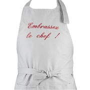 Tablier de cuisine personnalis� Embrassez le chef!